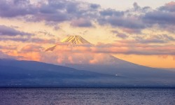 Sunrise over Mount Fuji
