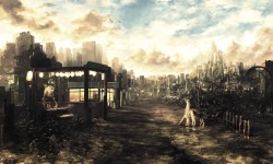 Post-apocalyptic anime city