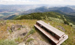 Picnic bench on top of th…