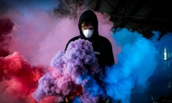 Colorful Smoke With Mask