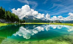 Lake water reflection