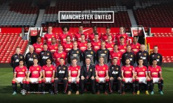 Manchester United 2014-2015 Squad Photo Wallpaper